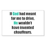 God/Chauffeurs Rectangle Sticker