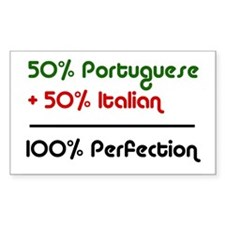 Half Italian, Half Portuguese Sticker (Rectangular