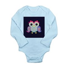 Eastern Owl (Navy Blue Background) Body Suit