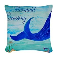 Mermaid Woven Throw Pillow