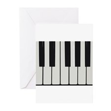 Piano Keyed Greeting Cards
