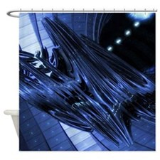 3d Life Form Shower Curtain