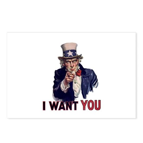 Uncle Sam Postcards (Package of 8)