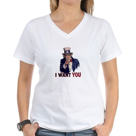 Uncle Sam t-shirt Women's V-Neck T-Shirt