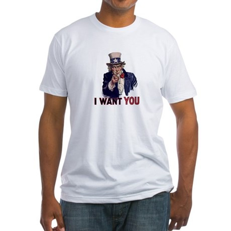 Uncle Sam t-shirt Fitted T-Shirt