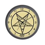 Baphomet Acient Wall Clock