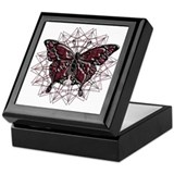 July Birthstone Butterfly Keepsake Box