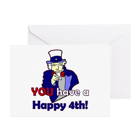Uncle Sam Happy 4th Greeting Cards (Pk of 10)