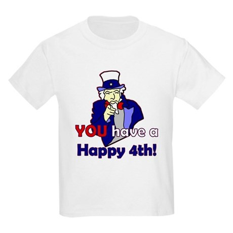 Uncle Sam Happy 4th Kids Light T-Shirt