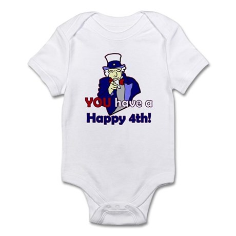 Uncle Sam Happy 4th Infant Bodysuit