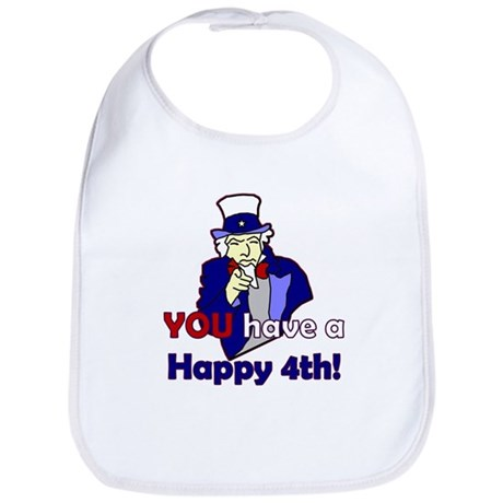 Uncle Sam Happy 4th Bib
