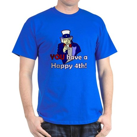 Uncle Sam Happy 4th Dark T-Shirt