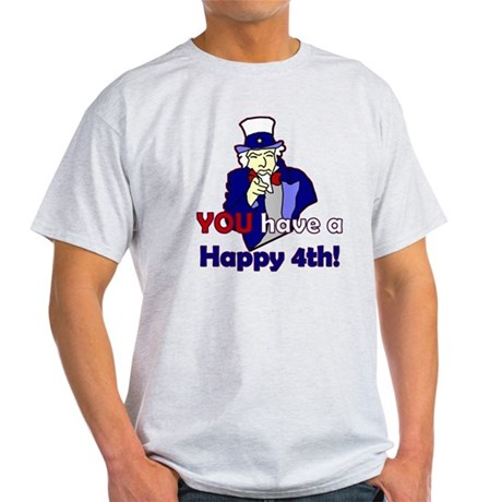 Uncle Sam Happy 4th Light T-Shirt