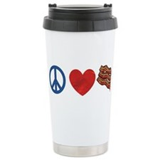 Cute Peace bacon Travel Mug