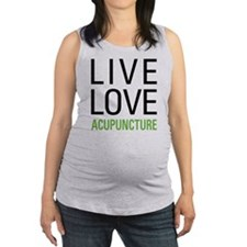 Live Love Acupuncture Maternity Tank Top