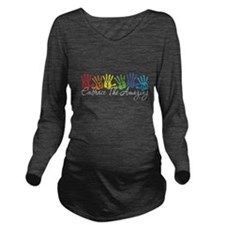 AutismHands Long Sleeve Maternity T-Shirt