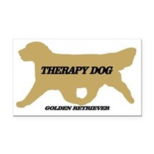 golden retriever therapy dog Rectangle Car Magnet