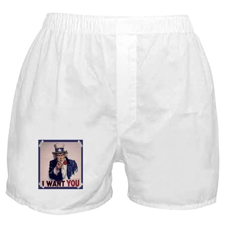 Uncle Sam Poster Boxer Shorts