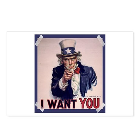Uncle Sam Poster Postcards (Package of 8)
