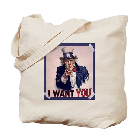 Uncle Sam Poster Tote Bag
