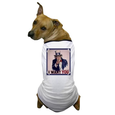 Uncle Sam Poster Dog T-Shirt