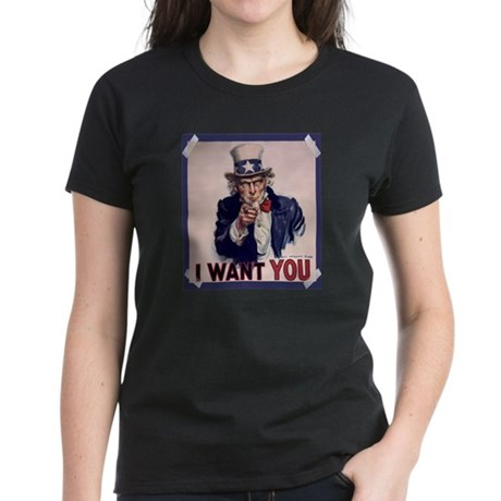 Uncle Sam Poster Women's Dark T-Shirt