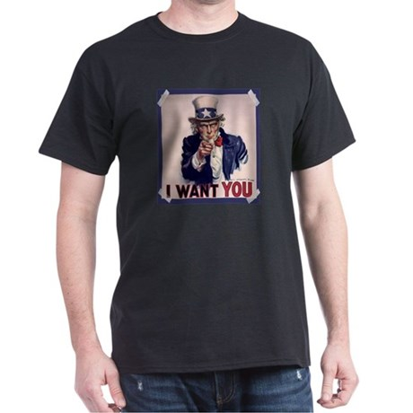 Uncle Sam Poster Dark T-Shirt