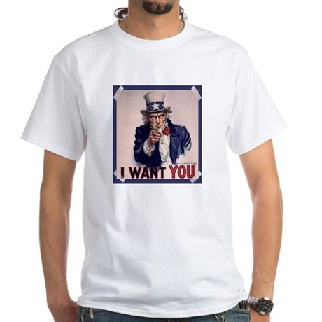 Uncle Sam Poster White T-Shirt