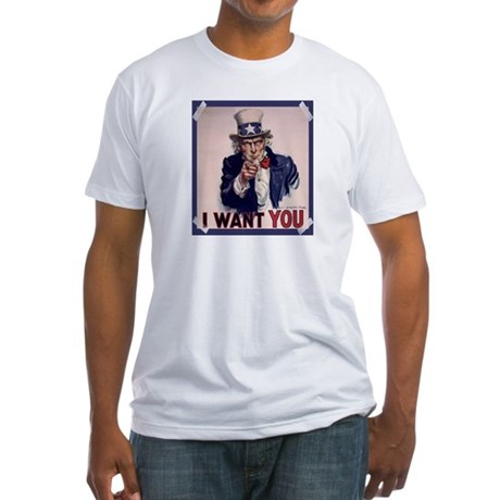 Uncle Sam Poster Fitted T-Shirt