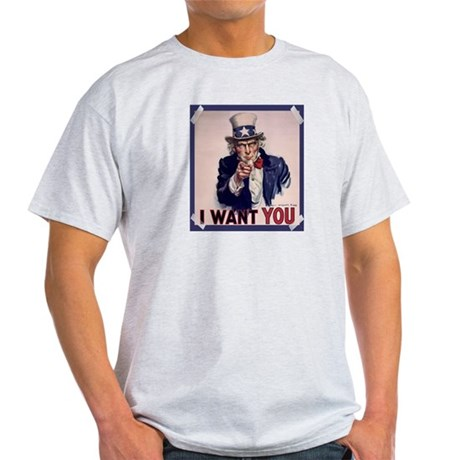 Uncle Sam Poster Light T-Shirt