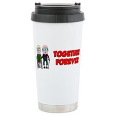 Cute Valentine wedding couples Travel Mug