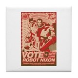 all hail robot nixon Tile Coaster