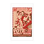all hail robot nixon Rectangle Sticker