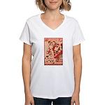 all hail robot nixon Women's V-Neck T-Shirt