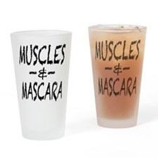 Muscles and Mascara Drinking Glass