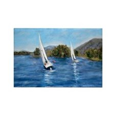 Smith Mountain Lake Fall Regatta Rectangle Magnet