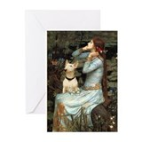 Ophelia & Bull Terrier Greeting Cards (Pk of 10)