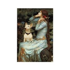 Ophelia & Bull Terrier Rectangle Magnet