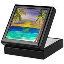 Tropical sunset Keepsake Box