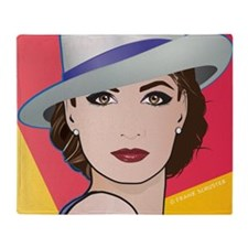 Pop Art Woman Ingrid Throw Blanket