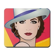 Pop Art Woman Ingrid Mousepad
