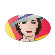 Pop Art Woman Ingrid Wall Decal