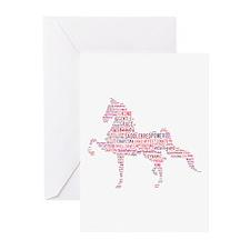 Saddlebred Art In Pink Greeting Cards (Pk Of 10)