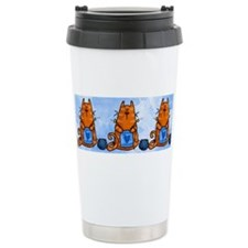Cute Knitting cat Travel Mug