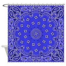 Indigo Paisley Bandana Scarf Western Fabric Print