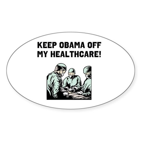 Obama Off My Health Care Decal