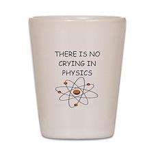 physics joke Shot Glass