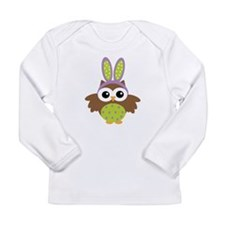 Easter bunny owl Long Sleeve T-Shirt