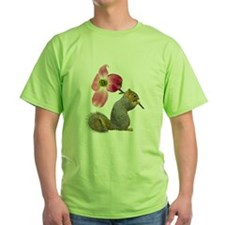 Squirrel Pink Flower T-Shirt