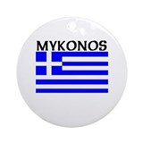 Mykonos, Greece Ornament (Round)